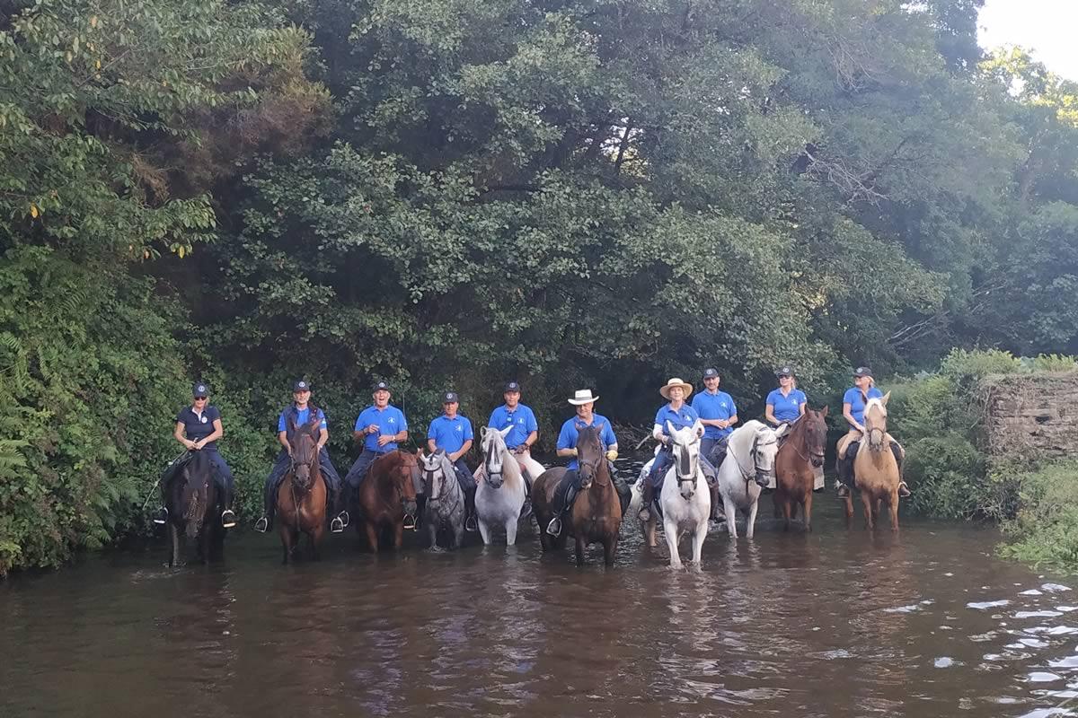 Ruta a caballo camino de Santiago